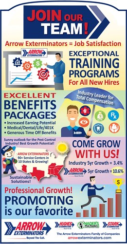 Arrow Exterminators Recruiting Benefits Infographic